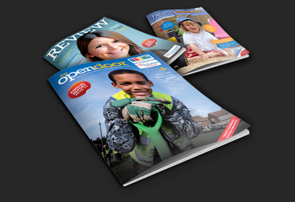 Examples Of Tennisons Commercial Photography On The Covers Magazines And Brochures